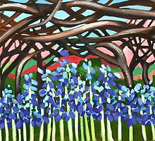 Bluebell wood by marlene veronique holdsworth