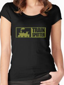 Train spotter with steam Women's Fitted Scoop T-Shirt