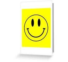 Acid House Smile Face Greeting Card