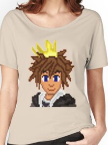 Gold Crown Hero Sora   Women's Relaxed Fit T-Shirt