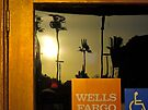 Palms Reflected On Wells Fargo Window - San Diego Series by Jack McCabe