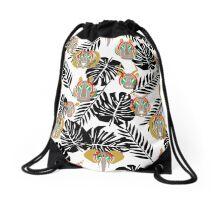 zebra zoo Drawstring Bag
