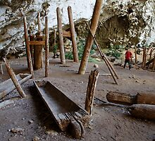 1600-year-old teak coffins, Ban Rai rockshelter, Thailand by John Spies