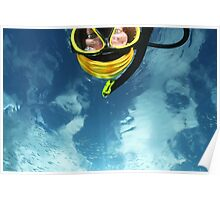 Self Portrait with underwater sky! Poster