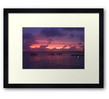 Sunset in Bonaire Framed Print