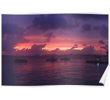 Sunset in Bonaire Poster