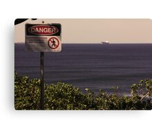 Danger of the view. Canvas Print