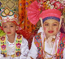 Shan boys, Poy Sang Long ceremony, Thailand by John Spies