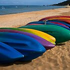Tangalooma kayaks by Celeste Mookherjee