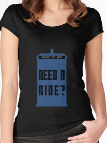 TARDIS - Need a ride?  Women's Fitted Scoop T-Shirt