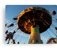 Amusement Park Swings Canvas Print