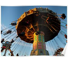 Amusement Park Swings Poster