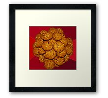 Yummy ANZAC Biscuits. Framed Print