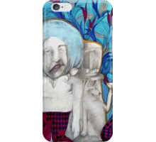man with his dog friend at the radio iPhone Case/Skin