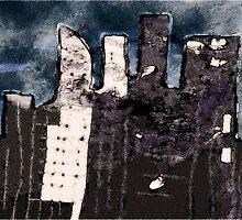 night falls on the city by Albert