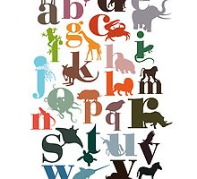 animal alphabet by vectoria