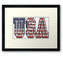 USA, Stars and Stripes, United States of America, Flag, Patriot, America, American, US, on WHITE Framed Print
