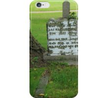 Tombstone Next to a Tree iPhone Case/Skin