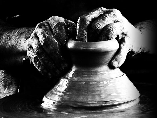 The Potters hands b/w. by Berns