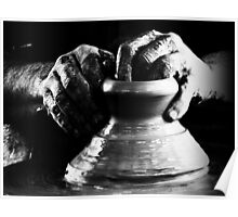 The Potters hands b/w. Poster
