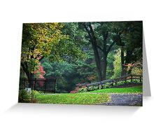 Walk in the Park New York Landscape Art Greeting Card