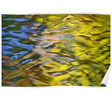 Mojave Gold Mosaic Abstract Poster