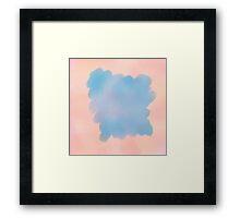 blue pink background Framed Print