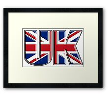 UK, Flag, Union Jack, British, United Kingdom, Blighty, on WHITE Framed Print