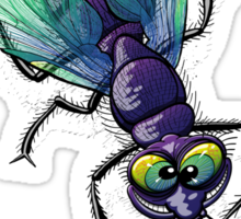 Naughty Smiling Fly Sticker