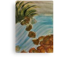 Geting my feet wet, watercolor Canvas Print