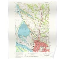 USGS Topo Map Washington Vancouver 244444 1961 24000 Poster