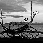 Viking ship sculpture Reykjavik, Iceland by Paul  Sloper