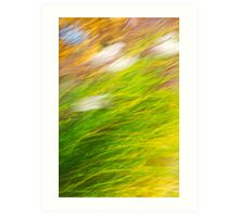 Fall Grass Colorful Nature Abstract Art Art Print