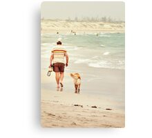 Mans Best Friend Canvas Print