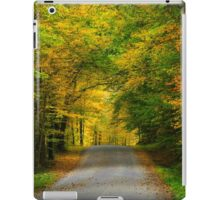 Tunnel of Trees Fall Landscape iPad Case/Skin