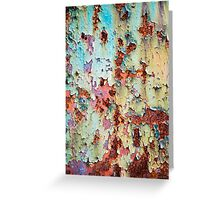 Abstract Paint Peeling Greeting Card