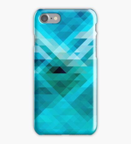 Blue geometric background iPhone Case/Skin