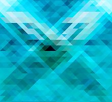 Blue geometric background by Vegaps