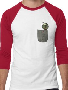 Whistling Rooster in Shades - Pocket Sized Men's Baseball ¾ T-Shirt