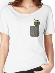 Whistling Rooster in Shades - Pocket Sized Women's Relaxed Fit T-Shirt