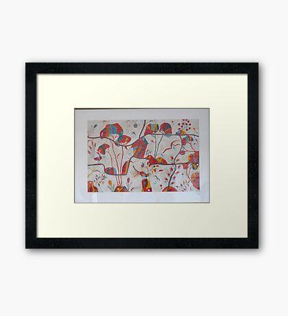 Secret garden red Framed Print