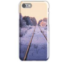 Winter Railroad in Sweden iPhone Case/Skin