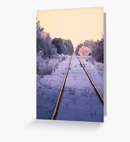 Winter Railroad in Sweden Greeting Card