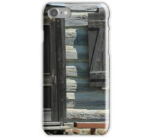 Door and Window in a Log Cabin iPhone Case/Skin
