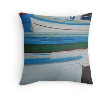 Rowed - Sorrento boats Throw Pillow