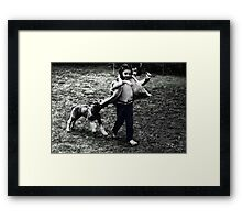Caught you! My turn to hide Framed Print