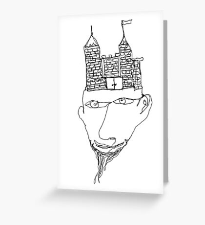 the mind's a fortress Greeting Card