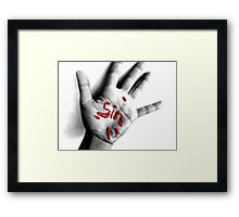 My conscience never be clean again... Framed Print