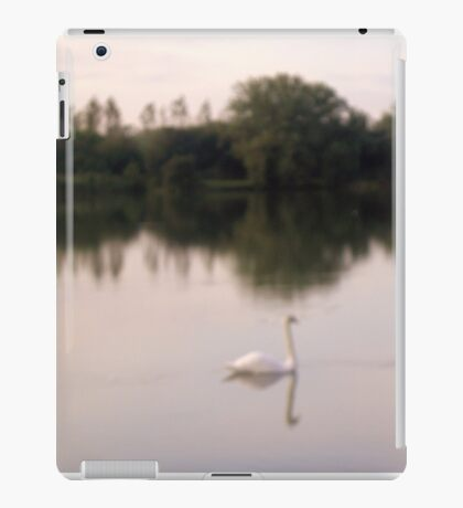 Swan on lakes in Somerset iPad Case/Skin