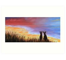 Hare Today Gone Tomorrow! Art Print